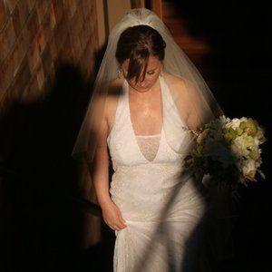 Amy Kuschel Halter Wedding Dress size 8